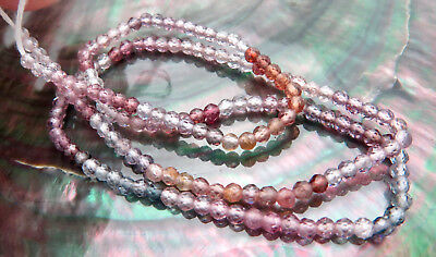 """Stunning Aaaaa+ Purple Red Pink + Spinel Finest Fancy Faceted Round Beads 13"""""""