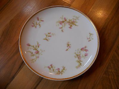 Old Vintage or Antique Plate Haviland France Haviland & co Limoges Pink Flowers