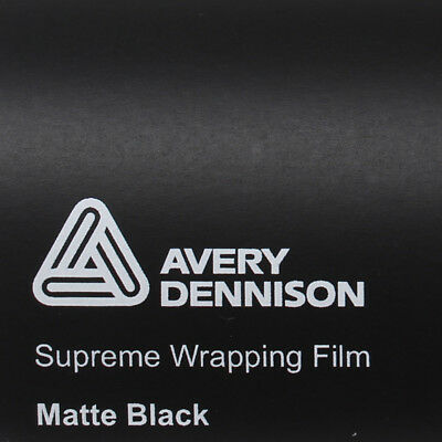20,75€/m² Avery Supreme Wrapping Film Matte Black Autofolie Matt Schwarz Folie