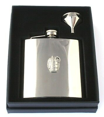 Snowboarder Design Stainless Steel Hip Flask Gift Free Engraving