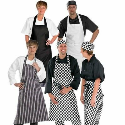 Click para hombre y mujer Profesional Completo Delantal Polialgodón chefs, Cooks