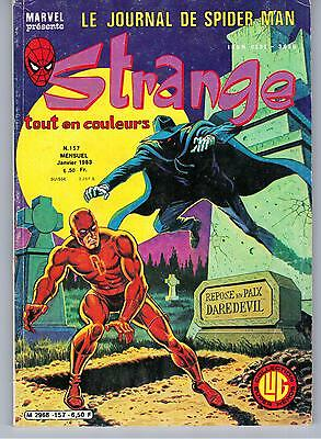 """STRANGE no 157"" (1983) LUG / MARVEL / DAREDEVIL / IRON MAN / SPIDERMAN / ROM"