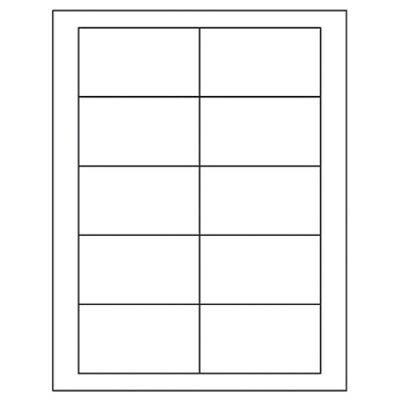 """1000 Business Card LABELS w/adhesive (NOT cards), 2"""" x 3 1/2"""", same size as 5371"""