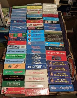 PICK 5 VHS Tapes 150+ TITLES TO CHOOSE FROM CHRISTMAS HOLIDAY MOVIES & CARTOONS