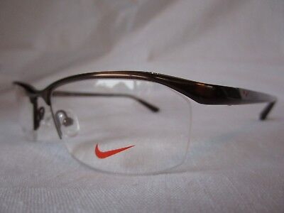 0edff50b3d Nike 6037 Eyeglass Frame Titanium 259 Shiny Brown 53-17-135 New   Authentic