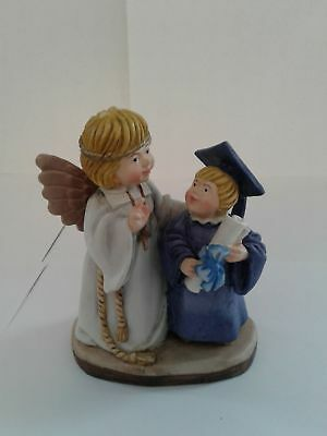 Toriat Handpainted Figurine by ANRI-Blessing Angel New Graduate Boy Discontinue