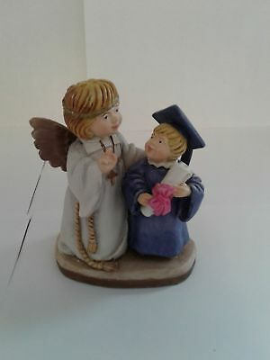 Toriat Handpainted Figurine by ANRI-Blessing Angel New Graduate Girl Discontinue
