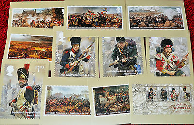 The Battle of WATERLOO Postcards