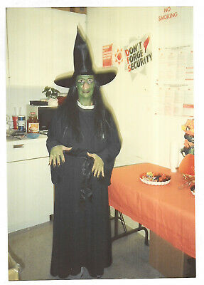 Vintage 80s PHOTO Woman In Halloween Witch Costume