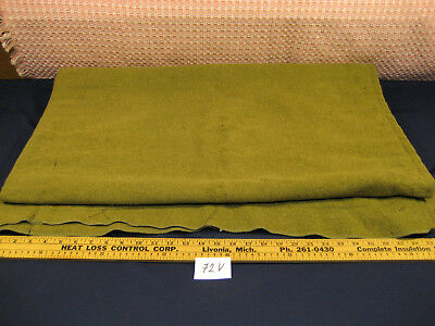 Vintage Green Wool Boy Scout Blanket SIZE 31''X76'' old 72V
