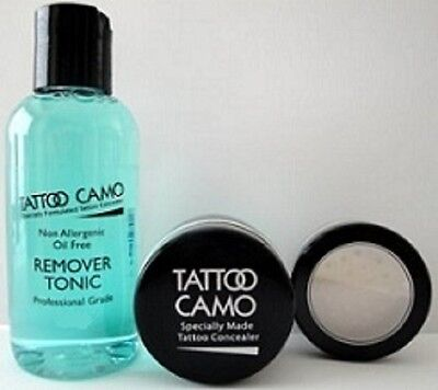 New Tattoo Camo Complete Coverage Tattoo Concealer Paste Single Kit w/ Remover