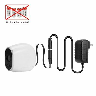 DC Power Adapter for Arlo vmc3030 Camera (Replace Arlo Batteries CR123A)