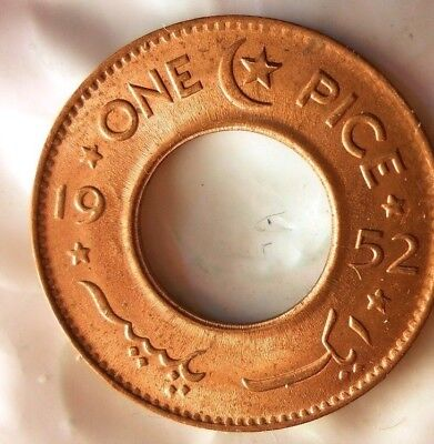 1952 PAKISTAN PICE - Great Coin - AU/UNC - FREE SHIPPING - Pakistan Bin A