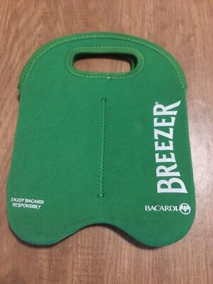 Bacardi Breezer Green Cooler Carry Bag 4 Bottle or Can - Party Gift or Man Cave