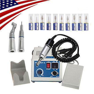 Dental Lab MARATHON Handpiece 35K RPM Electric Micromotor Polishing 10 Drills -A