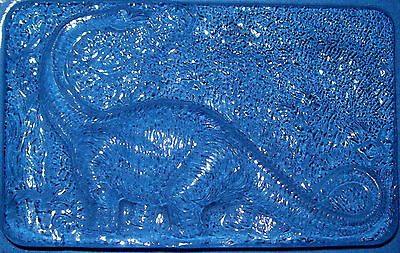 Large Rectangle With A Brontosaurus Dinosaur Chocolate Mould Or Plaster Mould