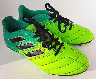 ADIDAS PMA SOLAR GREEN SOCCER FOOTBALL BOOTS SHOES SIZE US2 22.5cms