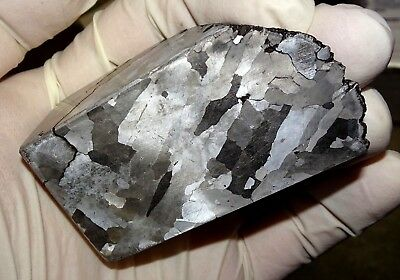 Beautiful 518 Gm. Etched Campo Del Cielo Meteorite Cube