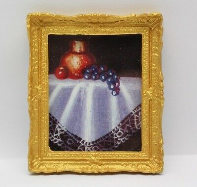 TWO GOLD COLOURED Mantel Picture Frames, Dolls House Miniatures, 1 ...