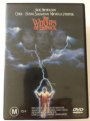 THE WITCHES OF EASTWICK R4 DVD Free Post CHER JACK NICHOLSON