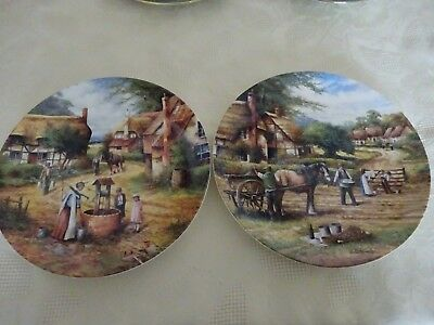 Wedgwood Chris Howell Country Days Collectors Plates Planting Potatoes Fetching