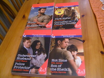 8 MillsBoon Stories In 4 Double Books Romantic Suspense Intrigue 2017
