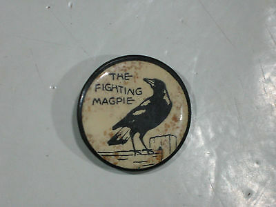The Fighting Magpies Badge Old Circa 1920s Scarce