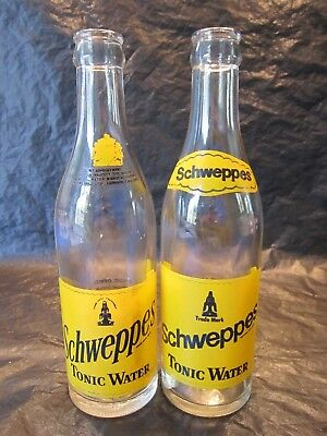 Schweppes Canada Tonic Water 10 Ounce 1968 & 1971 Glass Bottle Returnable Acl
