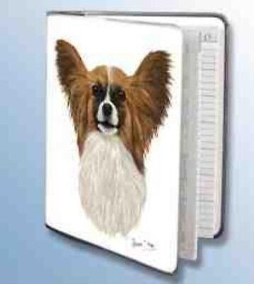 Retired Dog Breed PAPILLON Vinyl Softcover Address Book by Robert May