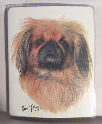 Retired Dog Breed PEKINGESE Vinyl Softcover Address Book by Robert May