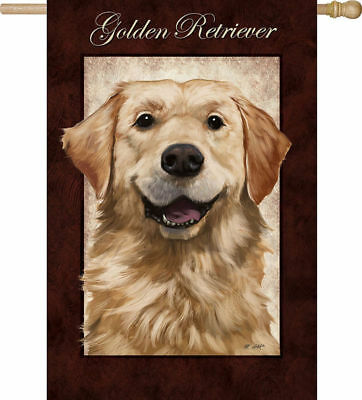 Large Outdoor GOLDEN RETRIEVER Dog Breed Full-Size House Flag Retired CLEARANCE