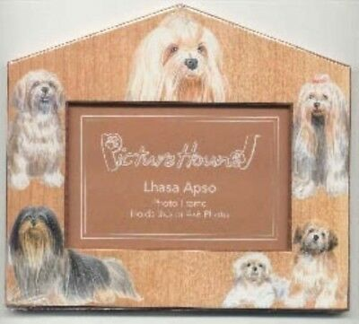 Dog Breed Desktop LHASA APSO Hard Board Picture Frame CLEARANCE SALE