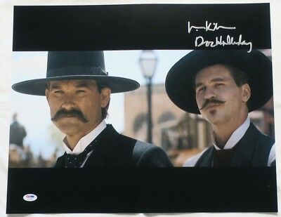 Val Kilmer Signed Tombstone Authentic Autographed 16x20 Photo w/Insc. PSA/DNACOA