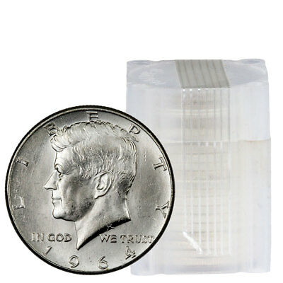 Roll of 20 - 90% Silver 1964 Kennedy Half Dollars BU SKU37127
