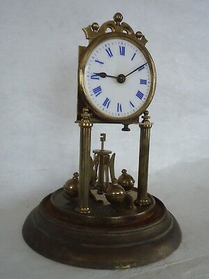Antique German 400 Day Mantle Clock. Spares Or Repair
