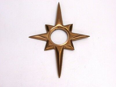 "Nos! Trimco 115 Starburst Door Escutcheon, Satin Bronze, Cast 9-1/8"" X 6-3/4"""