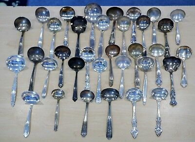 Lot of 34 Flatware Silver Plate Soup Spoons Spoon FREE SHIPPING 7