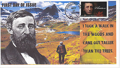Jvc Cachets - 2017 Henry David Thoreau First Day Cover Fdc L.e. Of 20 Style #1