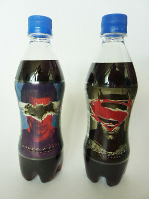 Pepsi Strong Zero Batman V Superman 2016 Limited Edition Japanese Soda Bottles