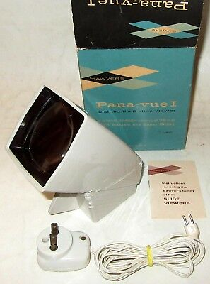 Vintage 1950s Sawyer's Pana-vue I Lighted 2x2 Slide Viewer w/Model F Transformer