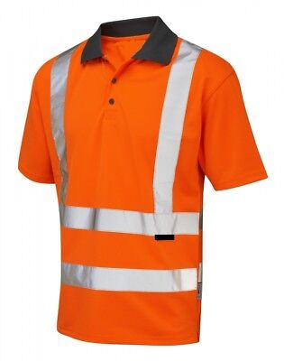 Hi Visibility Orange Polo Shirt EN471 Class 2 Hi Viz Reflective Fluorescent
