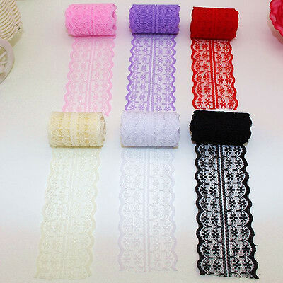 New Beautiful Bilateral Handicrafts Ribbon Embroidered Net Lace Trim 10 Yard