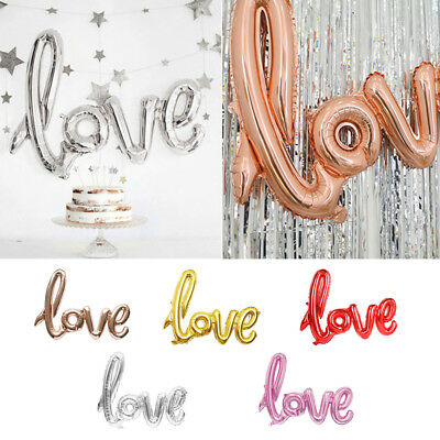 "LOVE Letter 43 ""Heart Foil Balloons Wedding Valentines Day Party Decor"