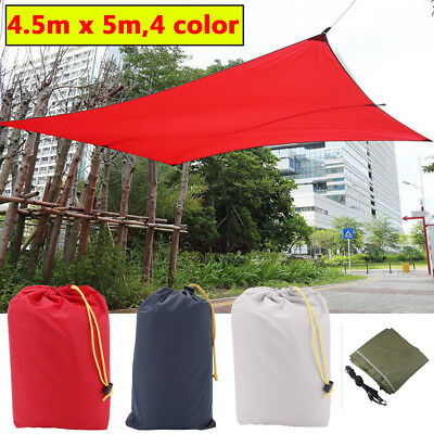 Rainproof Sun Shade Sail with Rope Garden Comping Canopy Shelter Carpet Useful