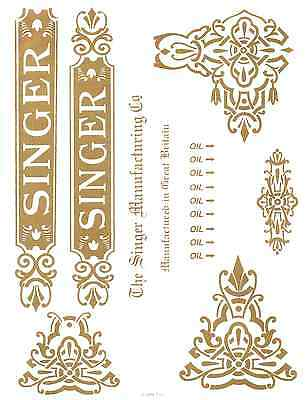 Singer Model 31- Commercial Sewing Machine Restoration Decals Full Set