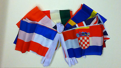 """28 countries flags EUROVISION BUNTING 52ft Polyester 16m 18/"""" x 12/"""" flags"""