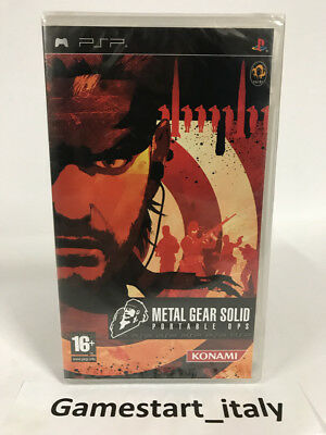 Metal Gear Solid Portable Ops - Sony Psp - Nuovo Sigillato - New Sealed Pal
