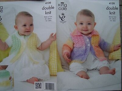 King Cole 4120 Knitting Pattern Coats in King Cole Melody DK Crocheting & Knitting Crafts