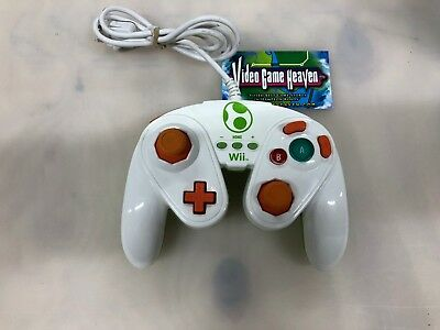 PDP Nintendo Wii Wired Yoshi Fight Pad (085-006) Smash Brothers Bros.