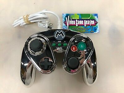 Metal Mario PDP Wired Fight Pad Controller For Nintendo Wii Super Smash Brothers